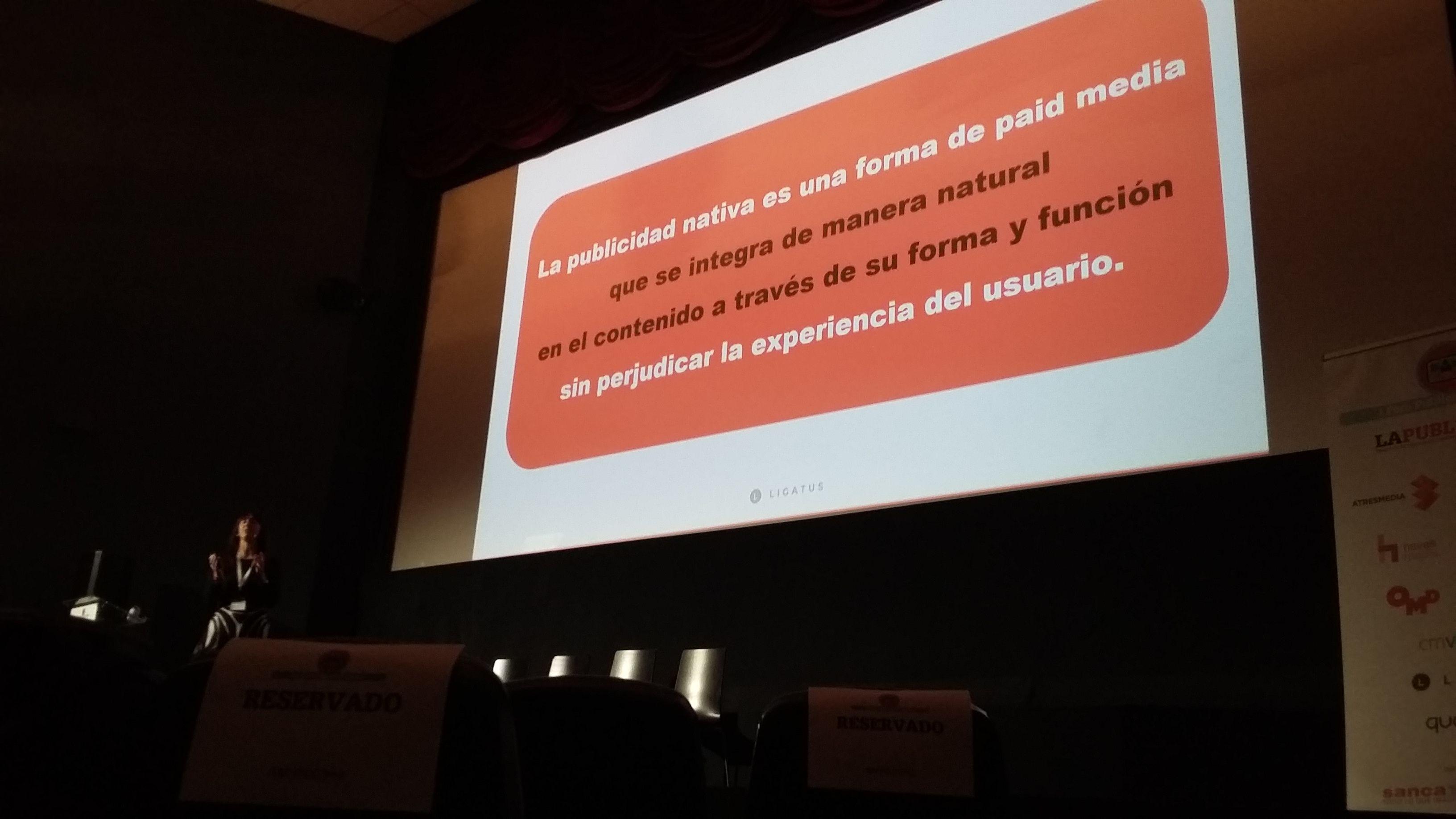 Definición de publicidad nativa según Maylis Chevalier