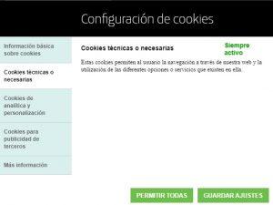 cómo poner política de cookies en mi web